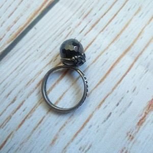 Sterling Silver ring size 6 black spinnel